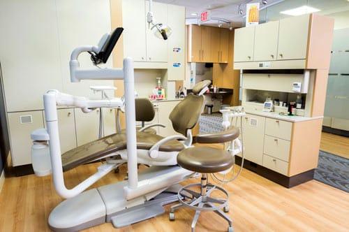 dental chair in dental clinic Calgary NE